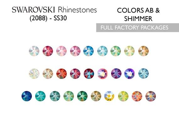6ced10117 288pcs Swarovski Rhinestones 2088 SS30 ABs & Shimmer | Etsy