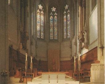 Grace Cathedral, Unused c1960s Postcard, Interior, San Francisco, California, good shape