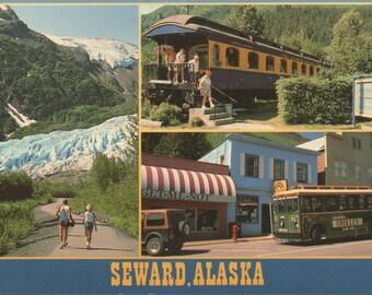 Seward, Alaska, 1 Used Postcard,  1993, good shape