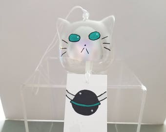 Wind Chime - Lulu/Rollo (Tales of Xillia 2) - handpainted - cat shaped