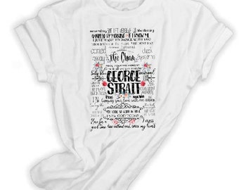 d5109e07 George Strait t shirt, Amarillo by morning, Check yes or no, George Strait  song list