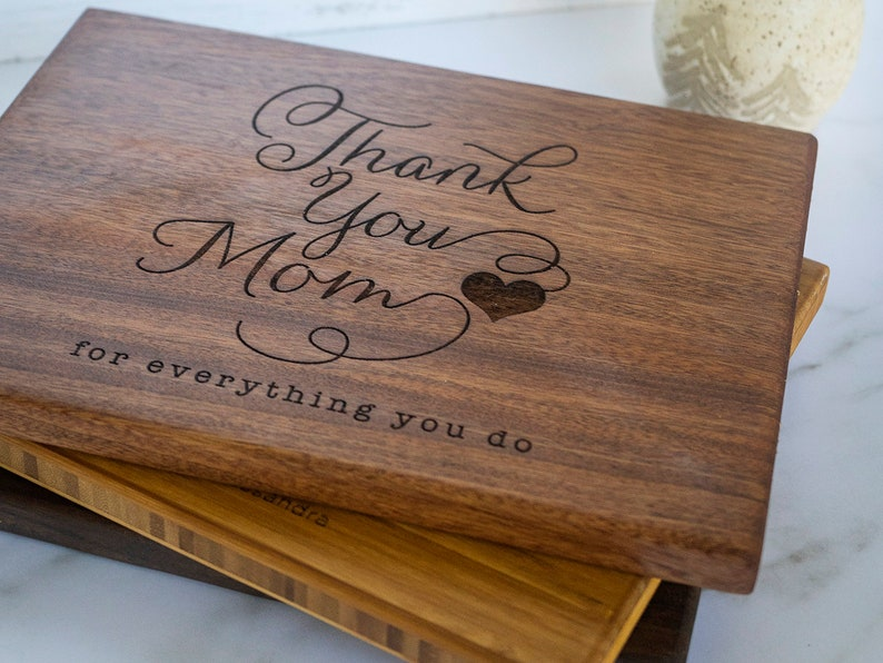 Mothers day gift personalized gift cutting board thank you mom image 0