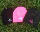 Embroidered Beanie - womens beanie - Monogram Beanie - Personalized beanie - Toboggan - Hat Toboggan