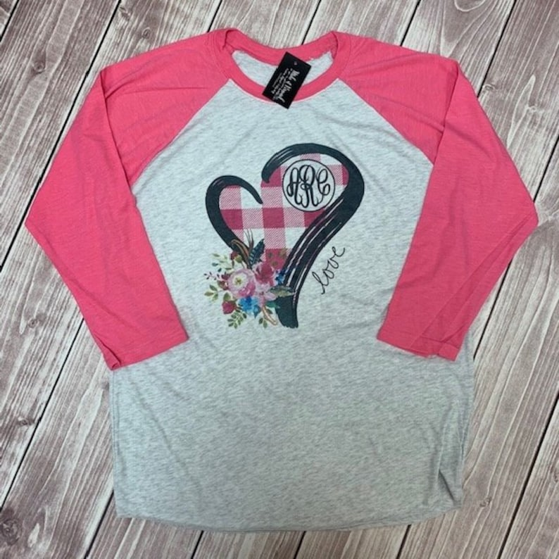 d8475050ea22 Valentine Monogrammed Shirt Valentines Day Valentine Shirt