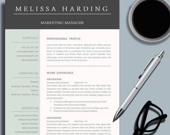 Creative Professional Resume Template for MS Word Modern | Etsy