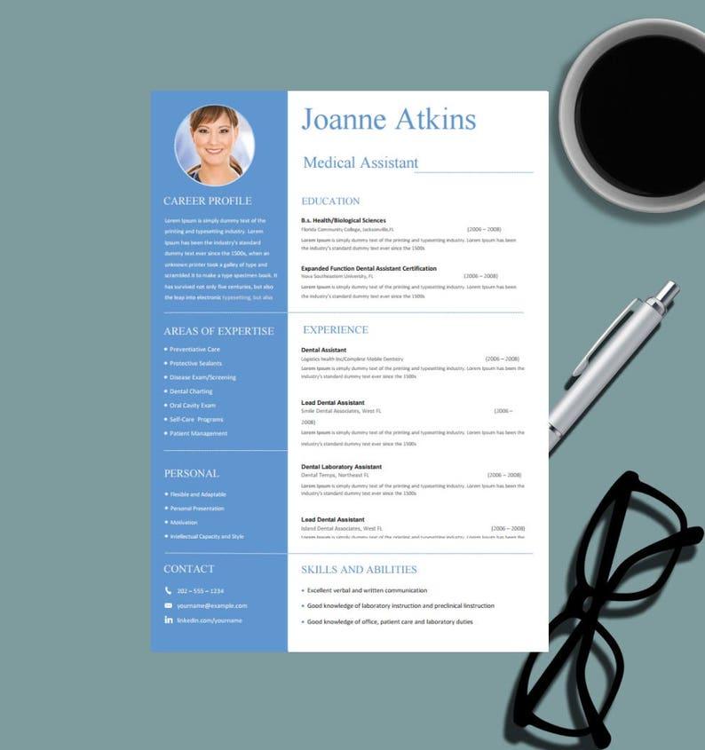 Medical Resume Template For MS Word Nurse Design