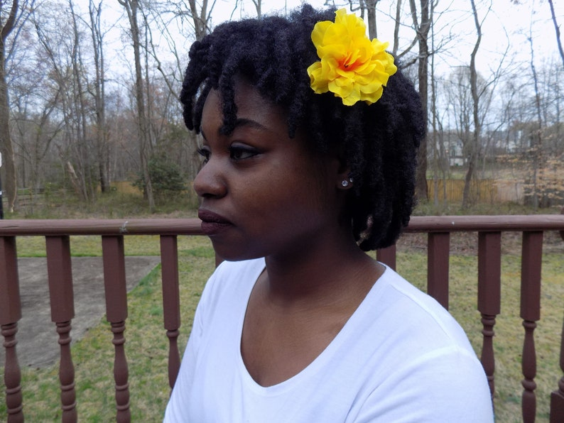 Yellow Flower with Orange Center Hair Clip