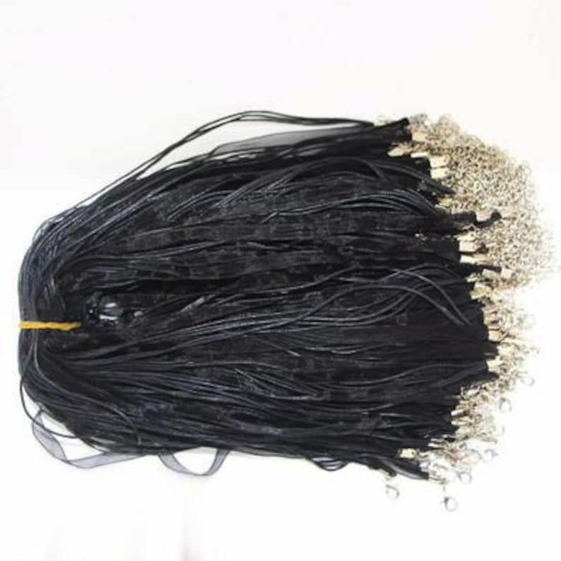 10PCS DIY Jewelry Accessories Waxed Cotton Thread Rope Chiffon Wax Necklace Rope Ribbon Necklace 3+1 Wax Rope