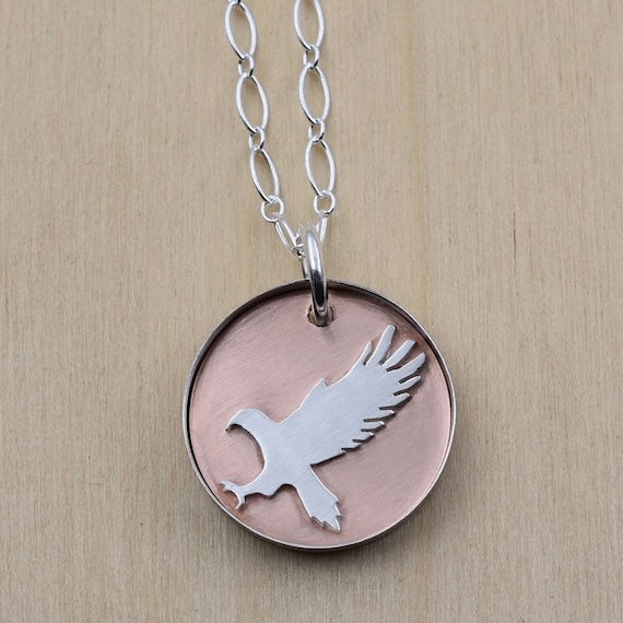 3//4 inch Sterling Silver Eagle Head Pendant