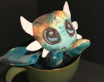 Green Galaxy Dragon Plushie, Stuffed Animal Plush Toy, Softie