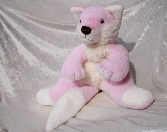 Wolf Plush Stuffed Animal Siberian Husky Soft Toy Handmade Etsy