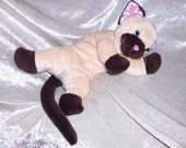 63440f29e346 SEAL POINT CAT Stuffed Cat plush stuffed Siamese cat handmade floppy  Ragdoll cuddly cat chocolate point unique Birman cat toy persian breed