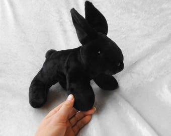 Black Rabbit plush stuffed animal BUNNY black luxury soft ...   340 x 270 jpeg 10kB