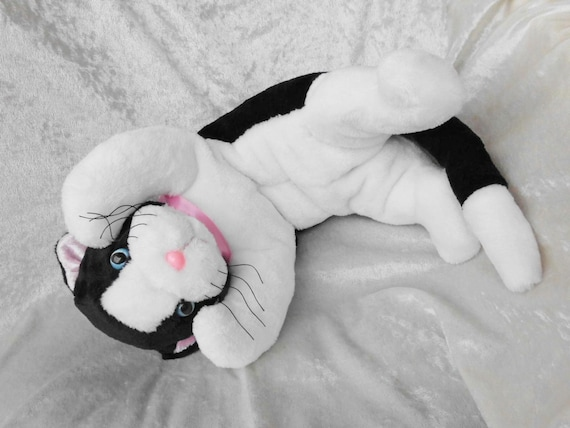 Black And White Tuxedo Cat Stuffed Cat Plush Stuffed Animal Etsy