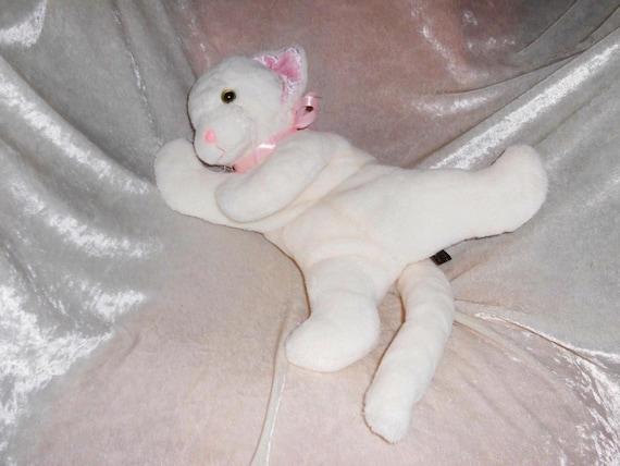 White Cat Soft Toy Kitten Angel Cat Nursery Decor Vanilla Etsy
