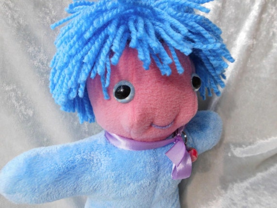 Home Decor Small Soft Dwarf Gnome Sprite Fairy WILD HAIR Mister Mint-Fresh Sea-Anemone happy cute DOLL Handmade Ooak tallhappycolors