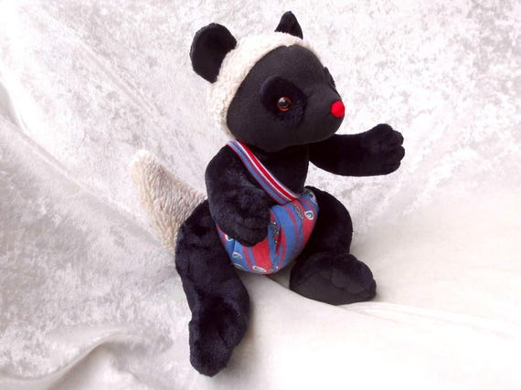 Black Dormouse Soft Doll Mole Plush Decor Stuffed Animal Black Etsy