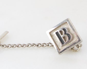 456518e1aec7 Vintage Swank Initial B Tie Tack Pin