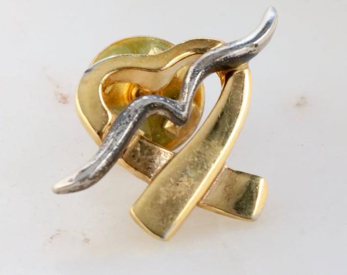 Gold Heart Lapel Pin