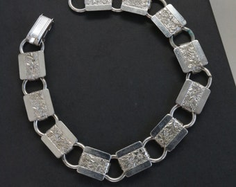Vintage Silver Cannetille Filigree Disc Bracelet 50/'s 60/'s Mid Century Fashion Jewelry Delicate and Lightweight