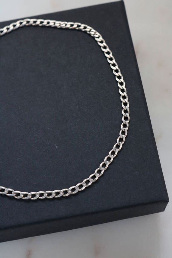 Sterling Anklet - Sterling Chain Anklet - 9 inches