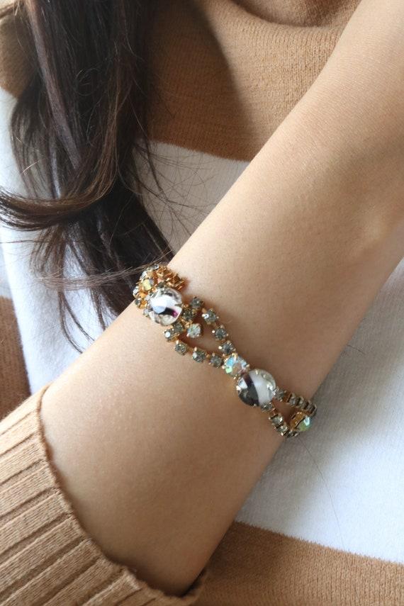 Vintage Sparkly Aurora Borealis Rhinstone Bracelet