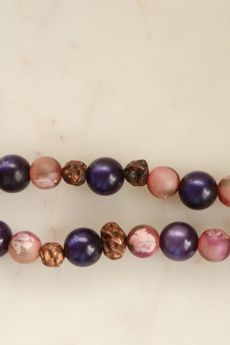 Vintage Freirich Purple Bead Necklace