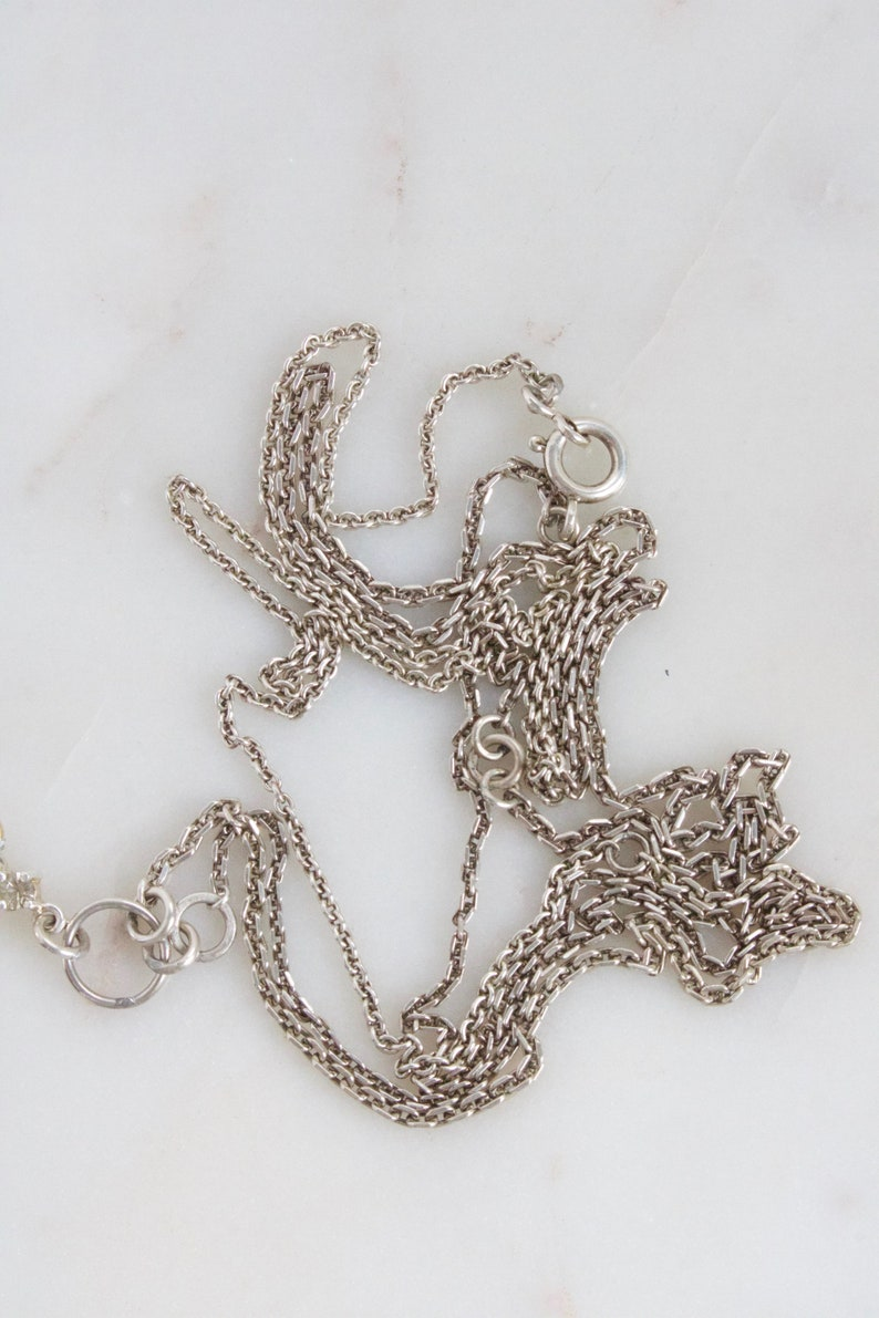 Long Sterling Silver Necklace