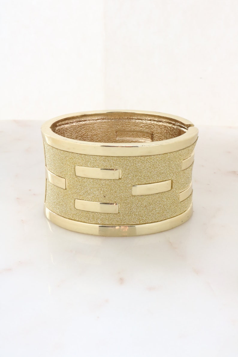 Vintage Wide Gold Cuff Bracelet