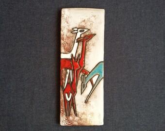 Ruscha --- wallplaque --- tile