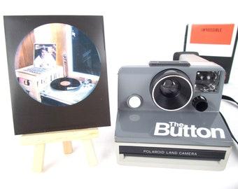 POLAROID BUTTON SX-70, film tested and with Polaroid film option, retro, vintage, action party instant camera!