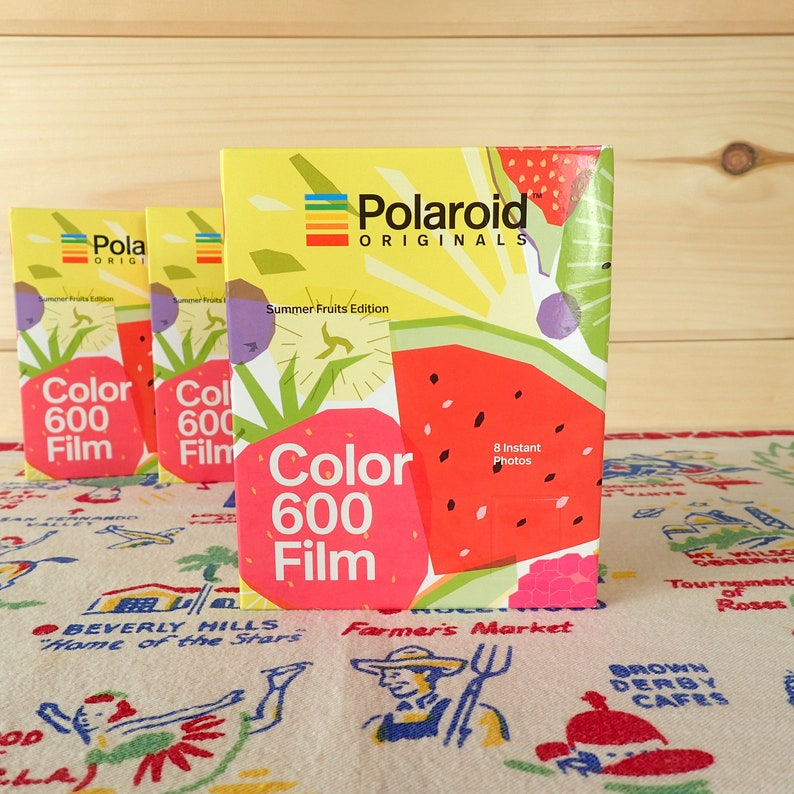 POLAROID 600 Summer Fruits Edition Color Instant Film fresh image 0