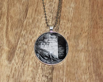 Pendant necklace featuring original black and white photograph
