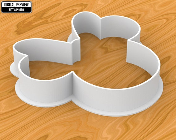 Sélectionnable Tailles Mickey Mouse main Cookie Cutter