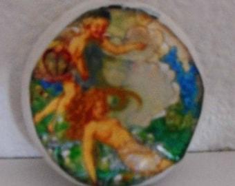 "My fantasy magical dreamland 1 1/2"" ceramic smoking stone"