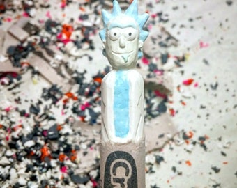 Rick Sanchez Rick and Morty carved crayon