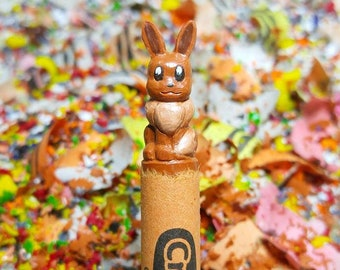 Eevee Pokemon carved crayon