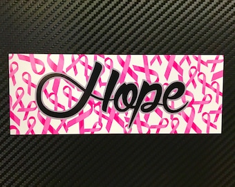 Hope Breast Cancer Vinyl Sticker Decal Custom