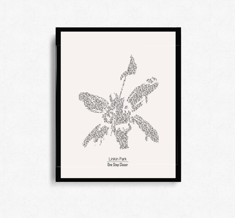 Linkin Park One Step Closer Hybrid Theory Typographic Print Design Wall Art Minimalist Art Graphic Design