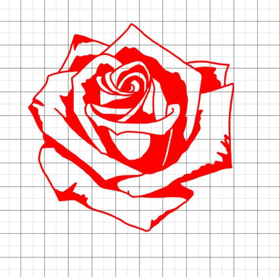 Rose Svg Rose Silhouette Svg Svg File Svg Files For Etsy