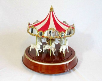 Carousel Vintage Carousel Antique Carousel Music Box Porcelain Carousel Circus Mr Christmas Deluxe Merry Go Round Rare Out of Production