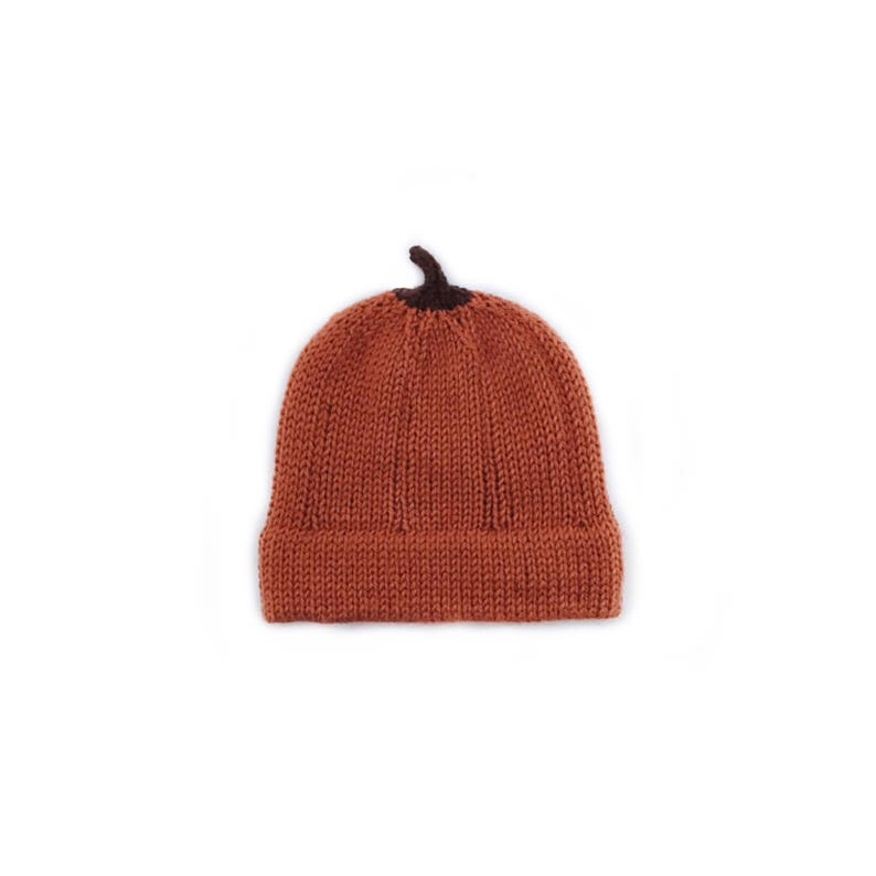 Pumpkin hat Knit pumpkin hat Thanksgiving hat Baby pumpkin hat Halloween hat photo prop Fall hat Knit baby pumpkin hat Autumn hat