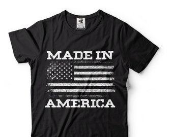 Made In America T-Shirt US Flag Patriotic Proud American T-Shirt