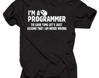 d1146552 Gift For Programmer T-Shirt I Am A Programmer Tee Shirt Funny Programmer  Shirt Birthday Gift