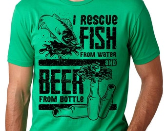 Fishing T-Shirt Funny Fishing Tee Shirt Fishing Beer Shirt Gift For Fisherman