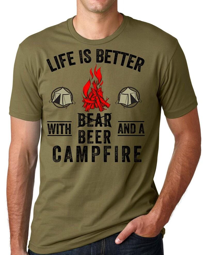 f091e16d Beer Bear Funny Camping T-shirt Campfire Tee | Etsy