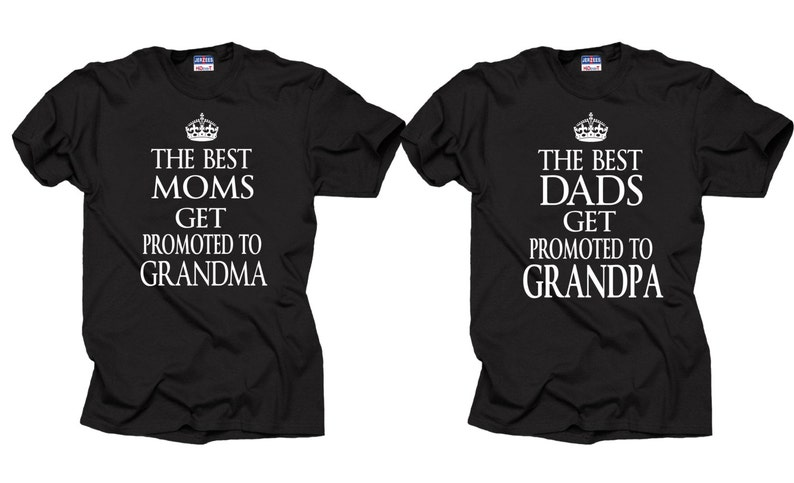 Gift For Parents Couple T Shirts Baby Announcement Birthday