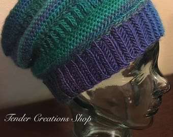 Purl Illusions Slouch Hat/Slouch Hat/Ski Hat/Snow Hat