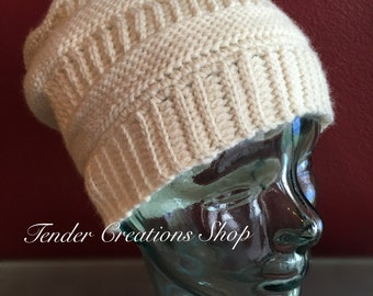 Purl Illusions Slouch Hat/Snow Hat/Crocheted Hat/Winter Hat/Slouch Hat/Wool Hat