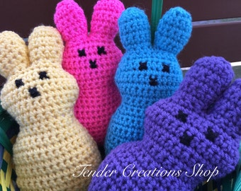Easter Bunny 4 Pack/Crocheted Bunny/Easter Basket Gifts/Crocheted Easter Bunny/Bunny